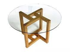 Metal working projects: Focus on something before beginning another. Take time to complete one before doing another. This helps be sure that your odds of finishing. Steel Furniture, Wooden Furniture, Table Furniture, Cool Furniture, Furniture Design, Coffee Table Design, Wood Glass, Diy Wood Projects, Glass Table