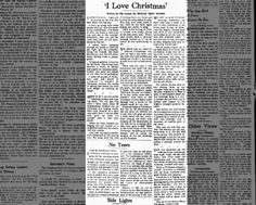 """I Love Christmas"" - Phyllis Sidey Wilson - Ottawa Journal - 1965"