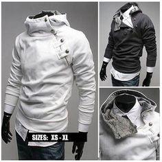 Men's Side Zip Slim Hoodie - DEAL MAN