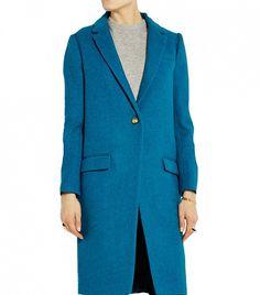 J. Crew Collection Harris Tweed Wool Coat in Teal