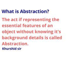 Abstraction in object oriented programming language Java Tutorial, Object Oriented Programming, College Students, Language, Concept, Abstract, Summary, Student, Language Arts