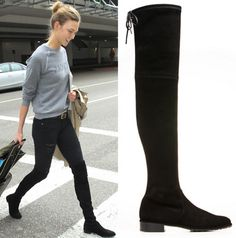 """Stuart Weitzman's """"Highland"""" and """"Lowland"""" were the go-to boots at this year's #NYFW"""