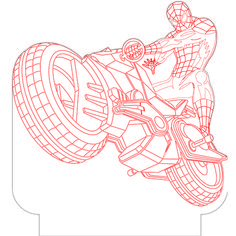 Spiderman 5 3d illusion vector file for CNC - 3bee-studio