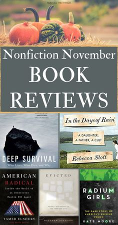 Searching for a book to read for Nonfiction November? Or maybe you're just curious about what everybody else is reading. Either way, this blog post is for you. It has reviews of memoirs, politics and history books, sociology books, and a wilderness survival guide. These are the books I read during Nonfiction November 2020. Come find a book that will teach you something new. Book Club Books, Book Lists, Books To Read, True Crime, Sociology Books, Feminist Books, Find A Book, Award Winning Books, Book People