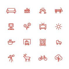Icons are simple with few details. They can be used for a brand logo, a phone symbol, or just a simple image that represents something simple.
