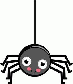 cute hanging halloween spider clip art cute hanging halloween rh pinterest com cute spider clipart black and white cute spider web clipart