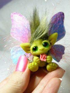 Goblin Fairy Butterfly Trollfling Raina by Trollflings on Etsy