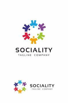 Social Circle is a logo that can be used in social networks, sites with chat service, software, applications and other similar uses. It is very simple to set Icon Company, Company Logo, Kindergarten Logo, Kids Basement, Church Logo, People Logo, Service Logo, Community Logo, Branding
