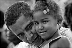 Barack With his daughter Sasha in Kenya.  The Rise of Barack Obama: Pete Souza Photography