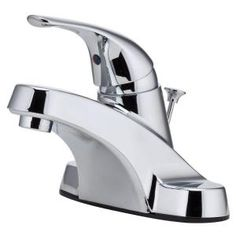Pfister Pfirst Series 4 in. Centerset 1-Handle Bathroom Faucet in Polished Chrome-G1427000 at The Home Depot