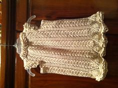 """crochet dress I made using the pattern """"Pure Innocence"""" from the America School of Needlework's Heirloom Thread Crochet for Baby by Ann Kirtley & Kelly Robinson Thread Crochet, Toddler Dress, Crochet Baby, Needlework, America, Pure Products, School, Pattern, Tops"""
