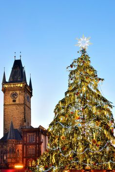 Christmas Lights in Prague, Czech Republic      |    25 Impressive photos of Christmas celebrations around the World. #17 Is Awesome!