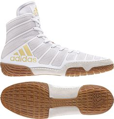best service 40dc7 accd3 Adidas AdiZero Varner 2 Men s White Limited Edition Wrestling Shoes Addidas  Shoes Mens, Adidas Shoes