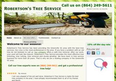 New Tree Services added to CMac.ws. Robertson's Tree Service in Greenville, SC - http://tree-services.cmac.ws/robertsons-tree-service/556/