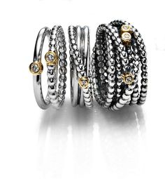 pandora rings...ok I'm not crazy about Pandora bracelets...but I do love these rings!