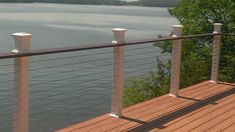 Deck railing isn't just a security attribute. It can add a sensational visual to mount a decked location or deck. These 36 deck railing ideas reveal you how it's done! Metal Deck Railing, Deck Railing Systems, Deck Railing Design, Patio Railing, Fence Design, Railings For Decks, Deck Railing Ideas Diy, Outdoor Railings, Garden Railings