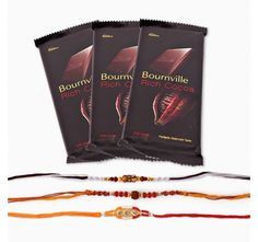 Set of Three Rakhi With Bournville Chocolate