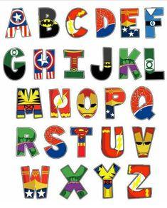 Superhero - inspired ABC'S
