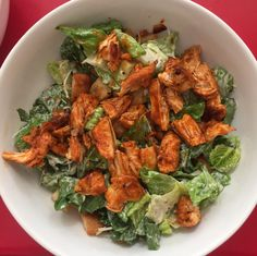 [homemade] Sriracha Chicken Ceaser Salad
