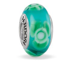 Pandora Xmas(Christmas) Charms Green Flower for You Murano Glass Charm 790649 Clearance Deals