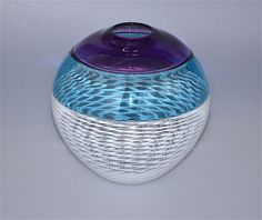 """Michael Hunter for Twists Glass double incalmo """"American Willow"""" vase from Scarab Antiques"""