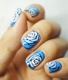 Cute And Chic Rose Nail Art Design