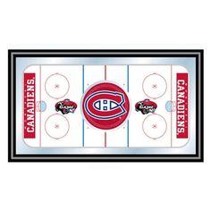 Trademark Global NHL Montreal Canadians Framed Hockey Rink Mirror - NHL1500-MC