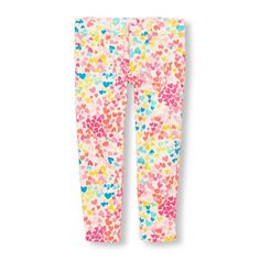bab606e8 Girls Multi-Heart Print Woven Jeggings Toddler Leggings, Kids Patterns,  Heart Print,