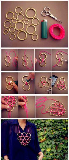 DIY Craft Necklace diy crafts craft ideas easy crafts diy ideas crafty easy diy diy jewelry craft necklace diy necklace jewelry diy