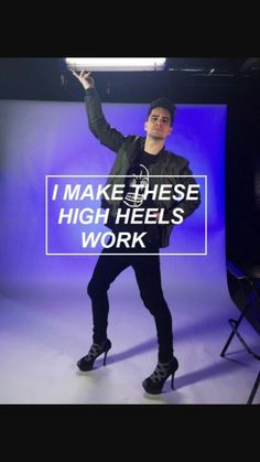 OH MY GOD I'VE BEEN LISTENING TO THIS SONG ALL DAY AND HALF OF THE DAY I WAS IMAGINIG HIM IN HIGH HEELS
