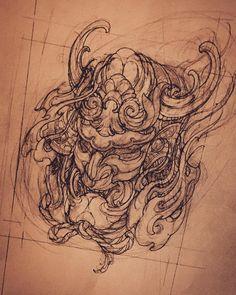 Kabuto. #japanesetattoo #sketch #tattooflash #kabuto