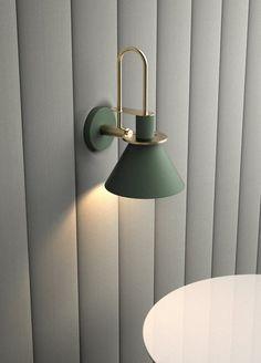 Brass Trumpet Modern Wall Light – Tudo And Co Bedside Wall Lights, Wall Sconce Lighting, Cool Lighting, Modern Lighting, Wall Sconces, Nate Berkus, Hans Wegner, Kelly Wearstler, Modern Wall Lights