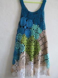 Fabulous Crochet a Little Black Crochet Dress Ideas. Georgeous Crochet a Little Black Crochet Dress Ideas. Motif Bikini Crochet, Freeform Crochet, Crochet Blouse, Irish Crochet, Crochet Shawl, Crochet Doilies, Crochet Lace, Crochet Style, Crochet Summer