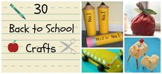 Start this year off right with 30 back to school crafts and back to school activities!