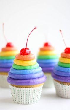 rainbow with a cherry on top