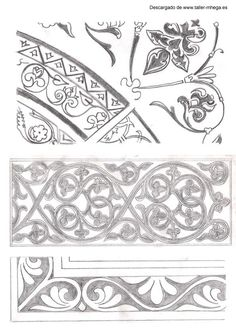 ornament Islamic Art Pattern, Pattern Art, Border Pattern, Wood Burning Patterns, Byzantine Icons, Carving Designs, Religious Icons, Art Icon, Gold Work