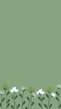 Flower Phone Wallpaper, Iphone Background Wallpaper, Green Wallpaper, Kawaii Wallpaper, Aesthetic Iphone Wallpaper, Colorful Wallpaper, Aesthetic Wallpapers, Background Blog, Instagram Background
