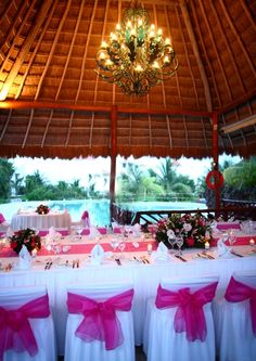 Wedding reception at Tucanes Bar in the El Dorado Royale. #Mexico