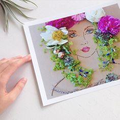 """""""Flora"""" Flower Face Print"""