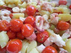 Insalata tiepida di polpo e pomodorini