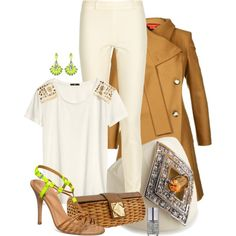 Amber & Neon, created by kswirsding on Polyvore
