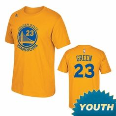 4c03242fe72 Golden State Warriors Adidas Youth Draymond Green  23 Name  amp  Number Tee  - Gold
