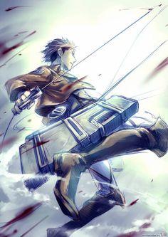 Shingeki no Kyojin/Attack on Titan - Jean Kirschtein Armin, Eren And Mikasa, Levi X Eren, Levi Ackerman, Attack On Titan Jean, Attack On Titan Anime, Ereri, Connie Springer, Punch Man