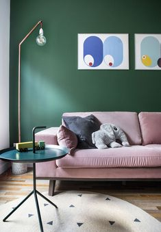 Pink Couch, Living Room Green, Entryway Bench, New Homes, Interior Design, House, Inspiration, Furniture, Home Decor