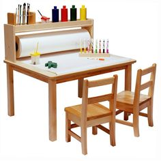 Emilio Kids 3 Piece Arts and Crafts Table and Chair Set Kids Craft Tables, Kids Table And Chairs, Kid Table, Table And Chair Sets, Table Legs, Kids Art Table, Craft Kids, Art Tables, Kids Crafts