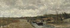 Sientje Mesdag van Houten (Dutch, 1834-1909)  Dune excavation near Scheveningen  signed 'S Mesdag-van Houten' (lower left)  oil on canvas  44.5 x 104 cm