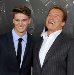 Arnold Schwarzenegger and his son Patrick Arnold Shriver Schwarzenegger