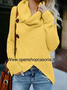 Love this mustard sweater Source by sweater mostaza Crochet Cardigan, Knit Crochet, Tunisian Crochet, Long Cardigan, Mustard Sweater, Casual Outfits, Cute Outfits, Creation Couture, Diy Clothing