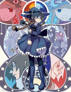 Ending pictures of  Wadanohara and the Great Blue Sea