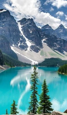 Canadian Rockies - Moraine Lake. I didn't take this photo but have others I have taken. Love this area!!